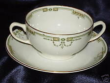 Grindley Riviera Handled Cream Soup Bowl & Saucer
