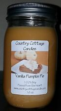 16 oz Hand Poured Soy Candle Vanilla Pumpkin Pie.FREE SHIPPING