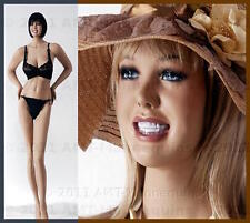 """37/25/37"""" Smiling Female busty mannequins, manequin, hand made manikin-CR-2"""