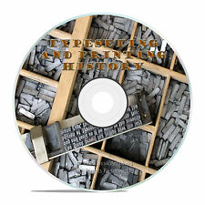 TYPESETTING AND PRINTING OCCUPATIONS HISTORY ON DVD -J64