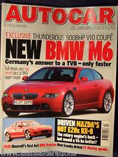 AUTOCAR Magazine 22nd January 2003 BMW M6