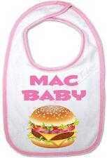 Bavoir Rose Bébé Hamburger Mac Baby
