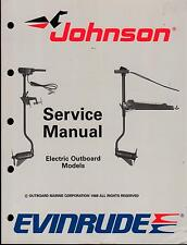 1989 OMC EVINRUDE JOHNSON ELECTRIC MOTOR SERVICE MANUAL P/N 507752