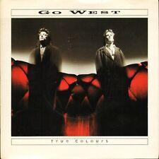 """GO WEST true colours GOW 4 near mint disc uk chrysalis 1986 7"""" PS EX/EX"""
