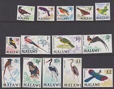 MALAWI : 1968 Birds Definitives set to £2 SG 310-23 MNH