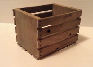 "1:6 or 1:10 Miniature Wood Crate  3"" x 2"" x 2"" Weathered Diorama Action Figure"