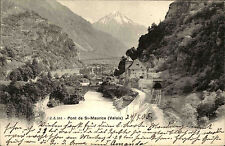 Bex Schweiz Waadt 1905 gelaufen nach LAAGE Pont Brücke St. Maurice Valais Fluß