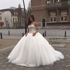 Applique Lace Floral off the shoulder Wedding Dress Sweetheart Neck Bridal Gown