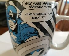 Disney Store Captain America Marvel Comic Book Super Hero Ceramic Coffee Cup Mug