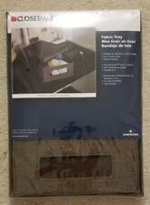 "NEW 2 2x Closetmaid Fabric Tray Brown 3152 4.25""x9.25""x13"" Storage Bin"