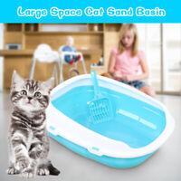 Detachable Cat Pet Toilet Potty Litter Open Training Tray Waste+Litter  *!