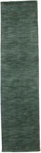 3X8 Hand-Loomed Oriental Runner Rug Modern Hunter Green Hallway Carpet 2'6X8