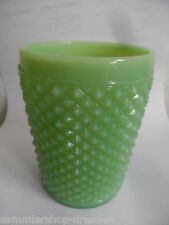 24282 wine glass goblet Uranglas 11cm Weinglas uranium Preßglas opalin grün