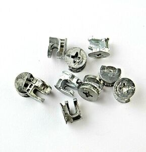 15mm Wide x 12mm Tall Cam Lock Fastener Connector Eccentric Case Metal Disc Nuts