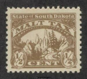 SOUTH DAKOTA Malt Revenue Stamp SRS SD MA1 mint, VF