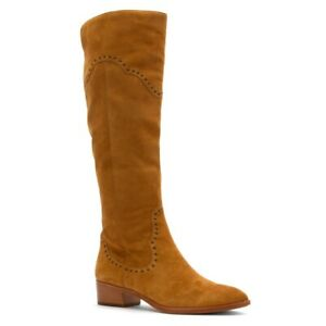 FRYE 235232 Women's Ray Grommet Camel Brown Tall Boots with Side Zipper Sz. 9 M