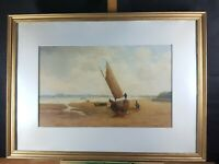 FRANK RAWLINGS OFFER 1847-1932 MERSEY NEW BRIGHTON OIL PAINTING DATED DEC 1923