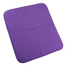 microfibre plat séchage mat cuisine évier égouttoir table napperon violet