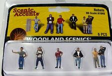 HO Scale Woodland Scenics Rebel People Figures for Model Railroad Layouts 1849