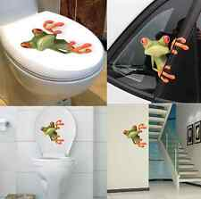 3D Stereo Cute Frog Funny Car Toilet Wall Sticker Removable Decal Vinyl Art