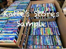 100 Kids DVD LOT WHOLESALE ASSORTED Children's Movies & Tv Shows Disney Included