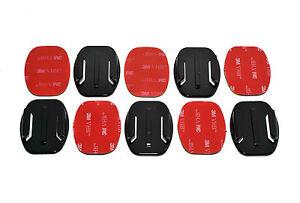 5x Flat Base 3M Adhesive Pad Mount Kit for GoPro HD Hero Camera 4 +3 3 2 1