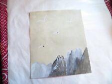 ROSE MARIE DE WOUTERS  – aquarelle – oiseaux sur montagnes – 03/12/91      LONGU