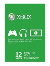 Xbox 360 Live 12 meses Gold membresía 1 años de suscripción
