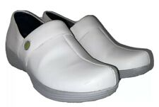 Dansko Work Wonders Camellia White Leather Professional Clogs Size 38 US 7.5 - 8