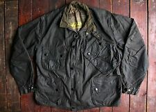VTG 60s BARBOUR INTERNATIONAL SUIT 'YELLOW LABEL' WAXED MOTORCYCLE JACKET 44