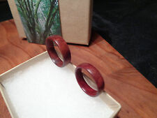 Band Ring Set ,Handcrafted Wood Wedding Band Ring,Redwood Ring,Anniversary Ring