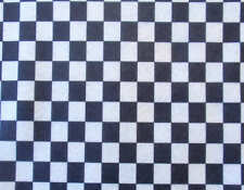 PRINTED PATTERN Acrylic Felt Black & White Checks