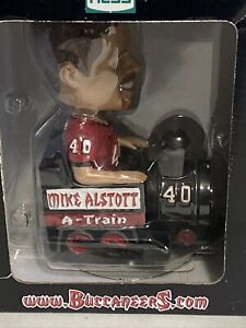 MIKE ALSTOTT BOBBLEHEAD A TRAIN TAMPA BAY BUCCANEERS *NEW IN BOX/BOX DAMAGED*