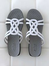 NEW! PRIVO CLARKS Size US 9.5 White Gray Sandals Shoes Flip Flops Flat Women's