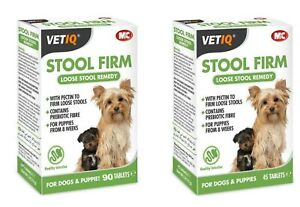VETIQ STOOL FIRM TABLETS FOR DOGS PUPPIES / 90 TABS - FOR PUPPY LOOSE STOOLS