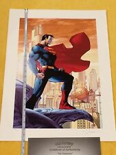 Alex Ross Superman For Tomorrow Giclee Sign Jim Lee,Batman,Wonder Woman, Rebirth