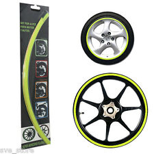 Flurocent Green Reflective Rim Decorative sticker for Car & Bike - Self Adhesive