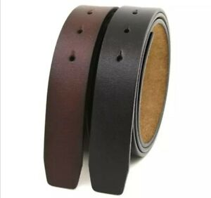 Classic Men's Belt Without Buckle Genuine Leather 40 mm (1.5'') wide