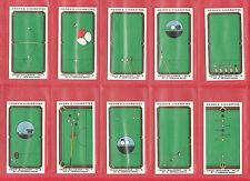 BILLIARDS  -  OGDENS  -  RARE  SET  OF  50  TRICK  BILLIARDS  CARDS  -  1934