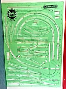 1001 LGB Track Planning Template * With Planning Paper * G scale *