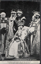 Royalty Postcard - The Enthroning of The Queen, Westminster Abbey   RS2117