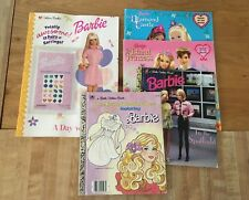 Lot of 11 Barbie Golden Books & Coloring Book 1996-2015