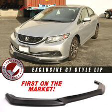 Fits 13-15 Civic USDM GT Style Front Bumper Lip Unpainted - PU (Poly Urethane)