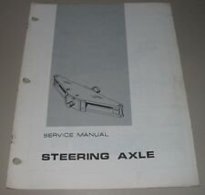 Service Manual Caterpillar Gabelstapler Steering Axle Models B-10 B-12 B-15 B-20
