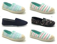 Women's Multi Color Moccasin Ballet Flats Slip on Loafers Sneaker Plimsoll Boot