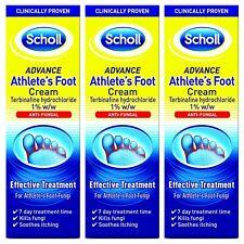 3 x Scholl Athlete's Foot Cream Terbinafine Hydrochloride 1% w/w Foot Fungi