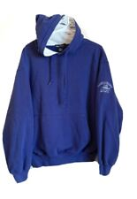 VTG Nautica Marina Hoodie Blue Pullover Waffle Knit Reef Trips Size Large