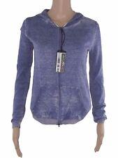 i blues max mara felpa donna cappuccio giacca knitting blu taglia m medium