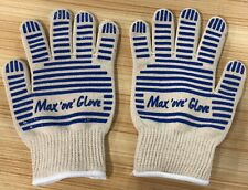2x Max Ove Glove Oven Grill Glove washable Glove Mitt Heat Protect(one pair)gift