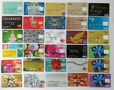 Debit Gift Card LOT of 30 Different Styles -Christmas, Golf, Bows, Map -No Value